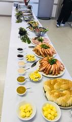 Christmas dinner buffet