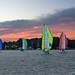 Sailing School Sunset-Rappahannock River-Deltaville Virginian 03862 by Emory Minnick