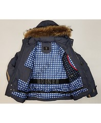 Горнолыжная мужская куртка Bogner 6818 -35 °C (темно серая) пух