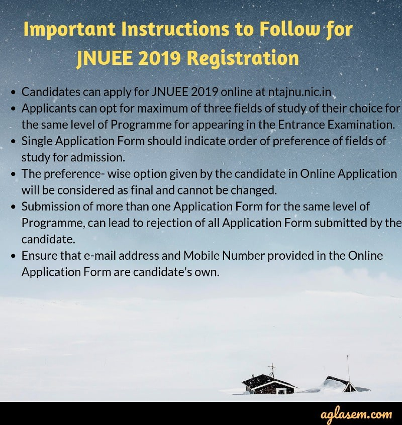 JNUEE 2019 Application Form : Apply Here!