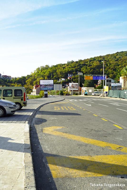 Санкционированная остановка общественного транспорта в Каменари