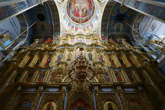 Iconostasis of the Holy Dormition Cathedral, Kiev. Ukraine