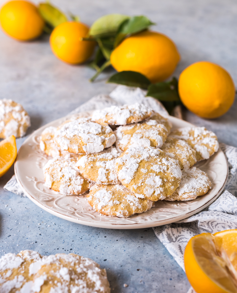 Ginger Cardamom Meyer Lemon Crinkle Cookies www.pineappleandcoconut.com