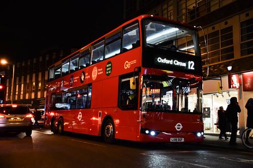 Go-Ahead London TA1 on Route 12, Peckham