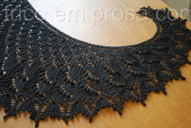 blog tricô em prosa - Xale Swallowtail Crescent