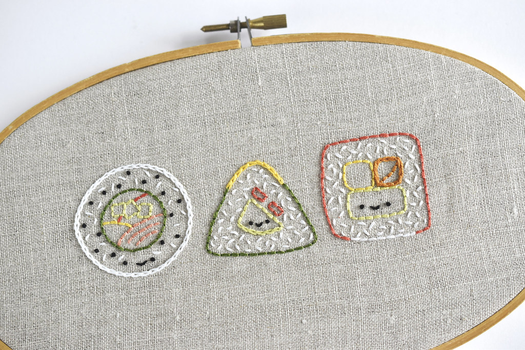 Silly Sushi Hand Embroidery Pattern