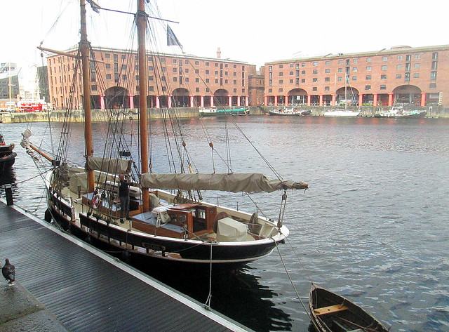 Boat in Albert Dock, Liverpool