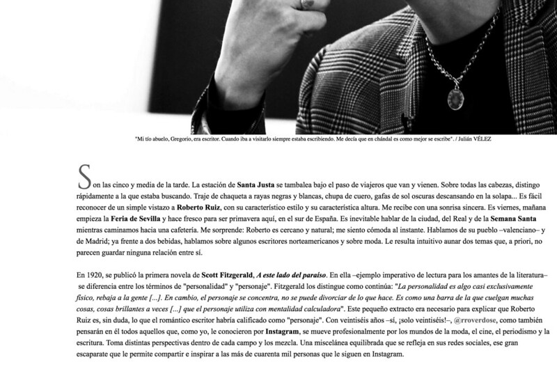 Roberto Ruiz BACKSTAGE MAGAZINE