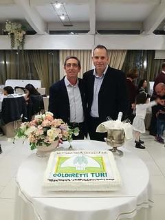 ll presidente Giuliani e il segretario zonale Domingo Colapietro