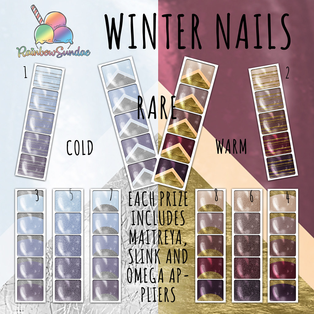 *Rainbow Sundae* Winter Nails Gacha @ The Liaison Collaborative