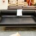 Ex demo damaged 3 seat leatherette sofa damaged arms E115