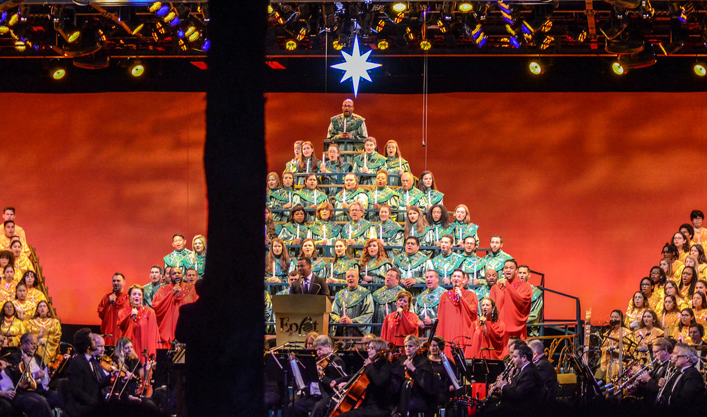 Candlelight Processional full group Epcot