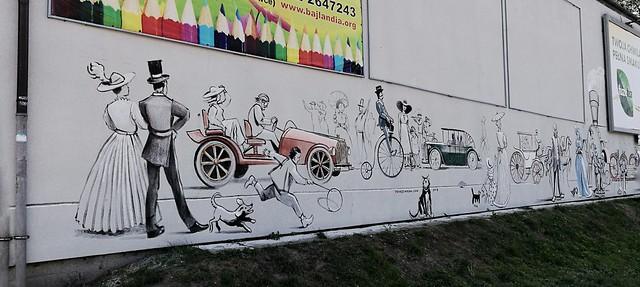 Tomasz Wełna, przystanek autobusowy Bieżanowska