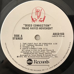 ISAAC HAYES MOVEMENT:DISCO CONNECTION(LABEL SIDE-A)