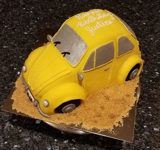 VW Beetle Bug Cake by Amanda Levasseur of Cakes 'n' Bakes on the Cape