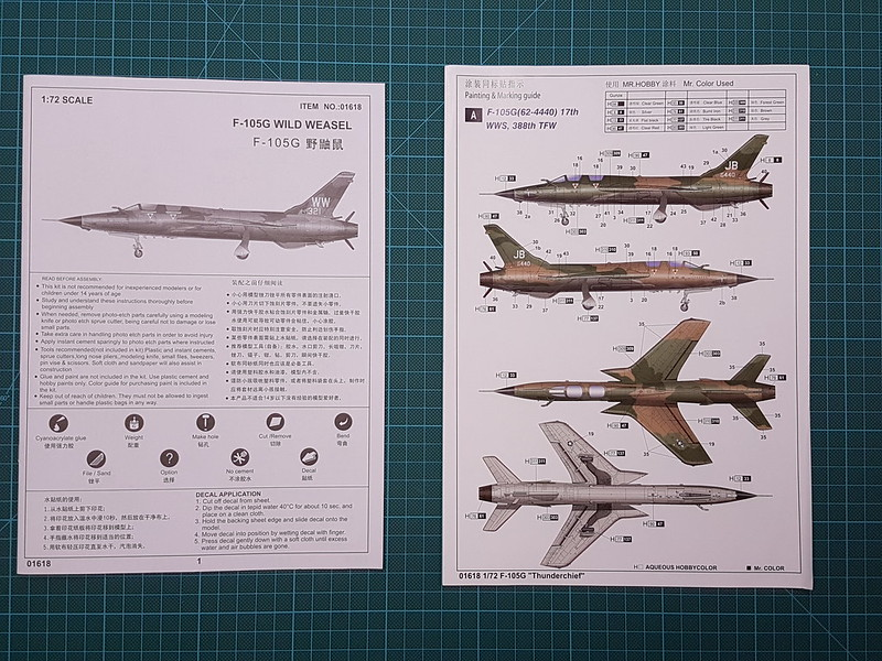 Trumpeter 1/72 F-105G Wild Weasel 31210445227_36eacd05da_c