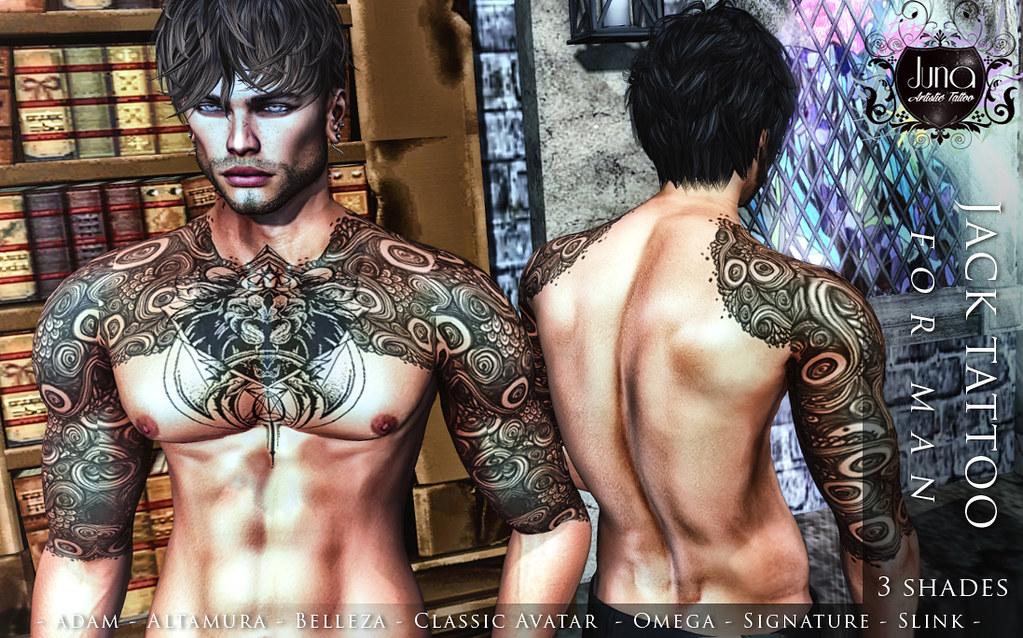 Jack tattoo for man