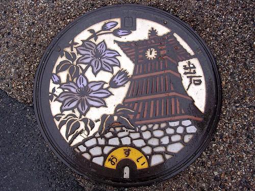 Izushi Hyogo, manhole cover 2 (兵庫県出石町のマンホール)