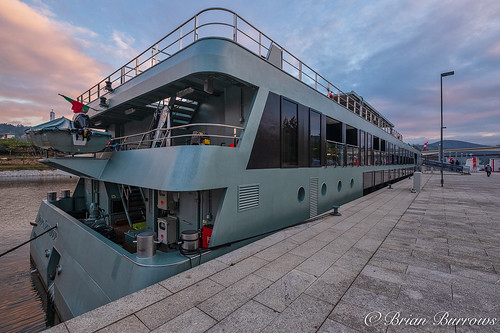 Douro Splendour moored for the night at Entre-os Rios