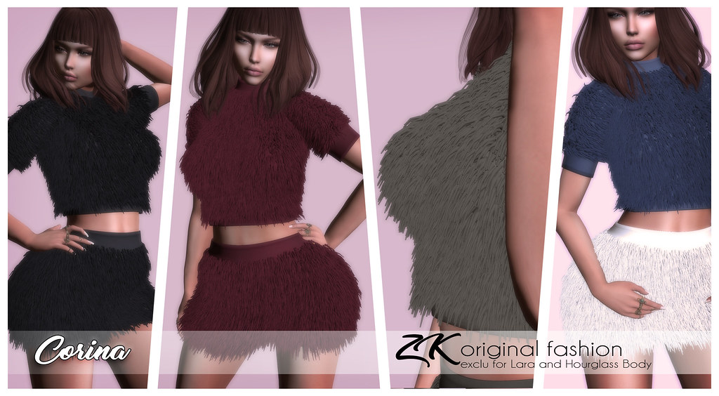 -:zk:- Corina Fur Top&Skirt@ COSMOPOLITAN EVENT