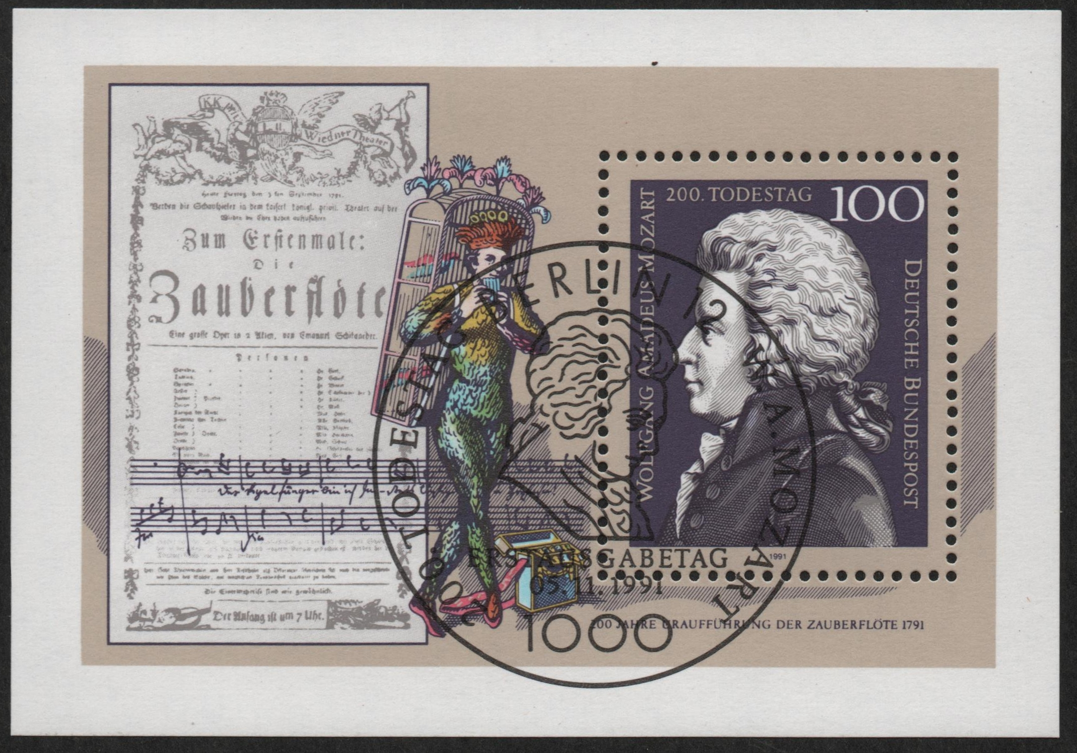 Germany - Scott #1691 ((1991) souvenir sheet