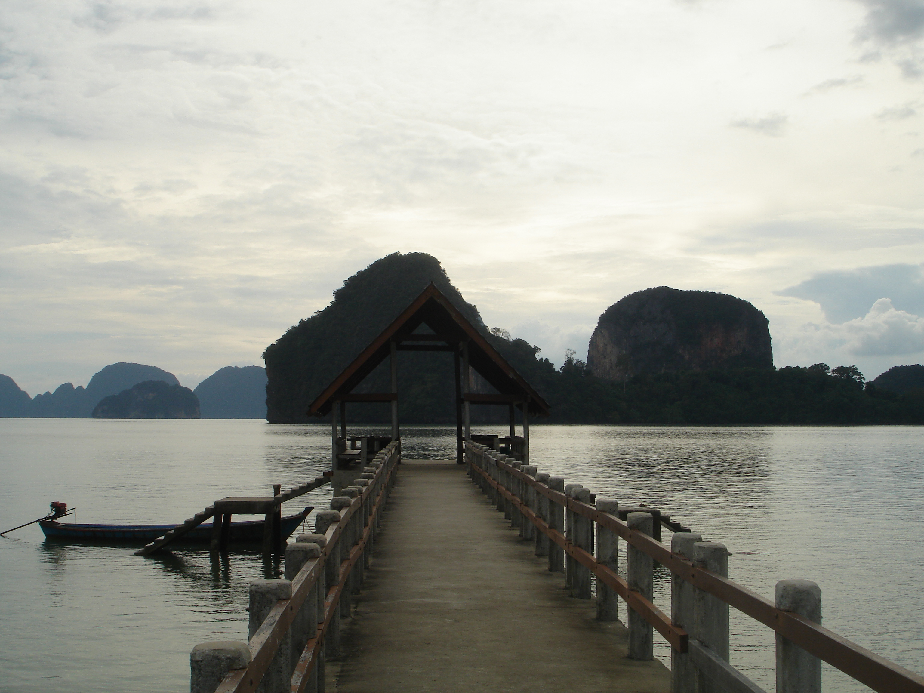 View to the west from Khao Phing Kan in Phang Nga Bay, Thailand. Photo taken by Mark Joseph Jochim on January 3, 2006.
