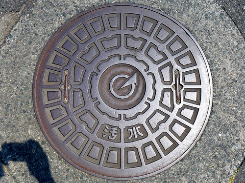 Arao Kumamoto, manhole cover 3 (熊本県荒尾市のマンホール3)