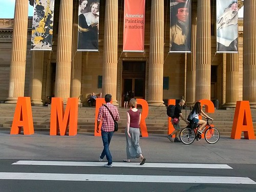 The American painting exhibition in Sydney at AGNSW museum.
