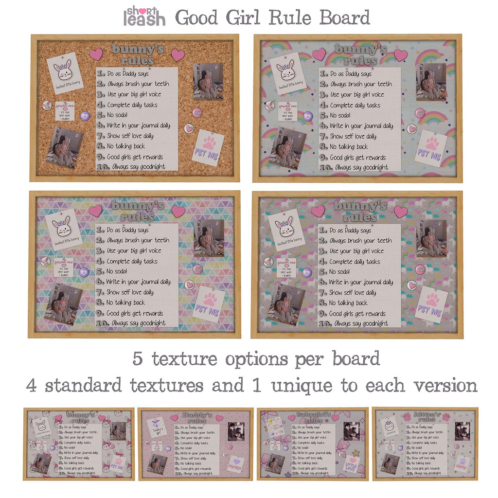 .:Short Leash:. Good Girl Rule Board - Versions - TeleportHub.com Live!