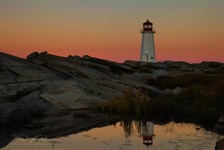 Peggy's Cove lighthouse reflections