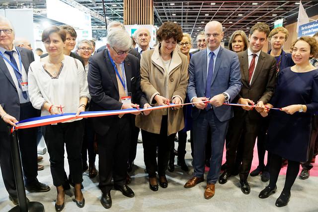 Jean-Michel Blanquer et Gabriel Attal inaugurent le Salon européen de l'Éducation