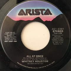 WHITNEY HOUSTON:SAVING MY ALL LOVE FOR YOU(LABEL SIDE-B)