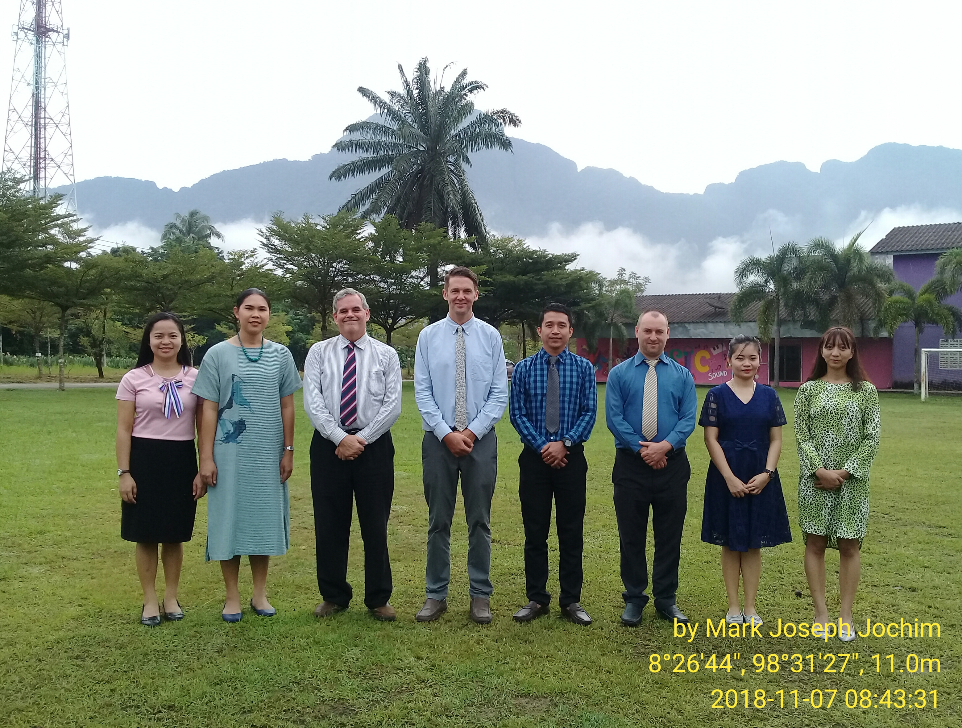 English Programme teachers at Ban Thai Chang Municipal School in Phang Nga Town, Thailand. I am the third from the left. Photo taken by BTC staff on November 7, 2018.