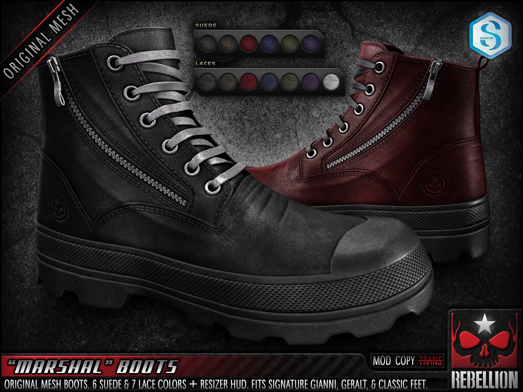 "= REBELLION = ""MARSHAL"" BOOTS"