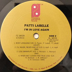 PATTI LABELLE:I'M IN LOVE AGAIN(LABEL SIDE-B)