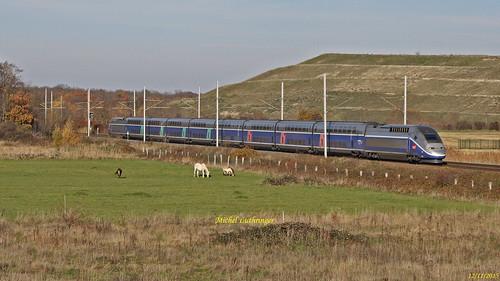 TGV Rame 270 Train 6841 Strasbourg-Montpellier à Staffelfelden