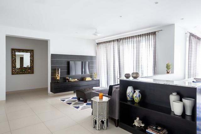 Contemporary living room interior design India