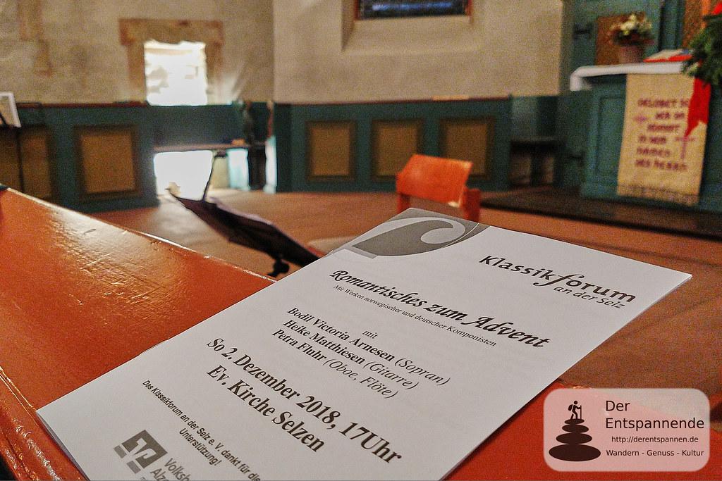 Romantisches zum Advent - Konzert in der evangelischen Kirche Selzen
