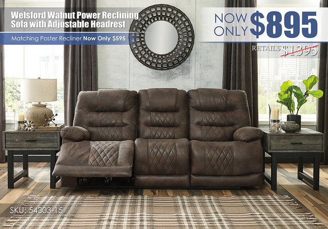 Welsford Walnut Power Reclining Sofa_54303-15-SET