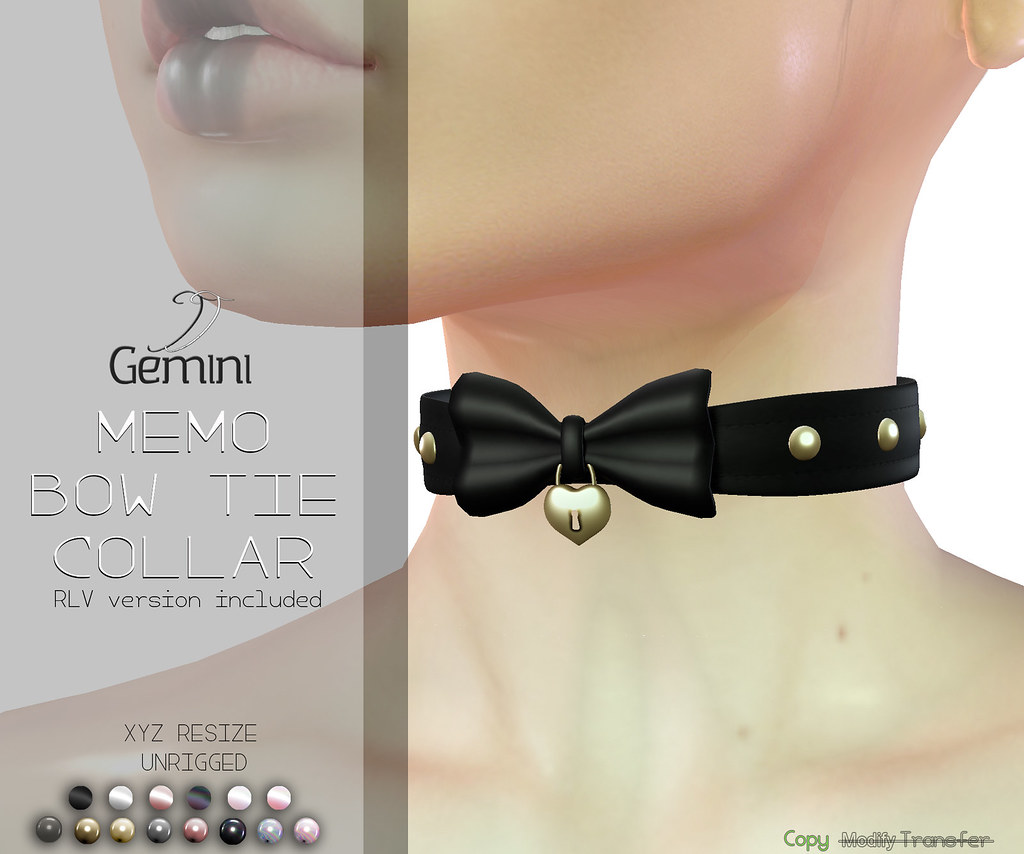 •Gemini -Memo BowTie Collar- @2ND CHANCE EVENT• - TeleportHub.com Live!