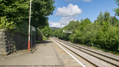 Hebden Bridge Station.