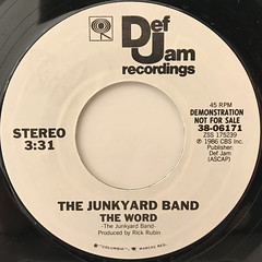 THE JUNKYARD BAND:THE WORD(LABEL SIDE-B)
