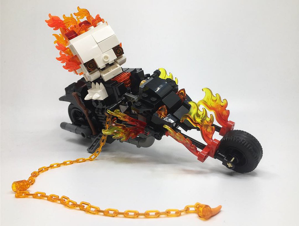 Brickheadz Vehicles Ghost Rider Hell Cycle