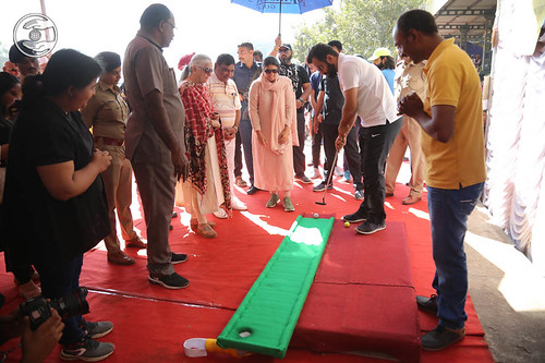 Ramit Ji playing Indoor Golf