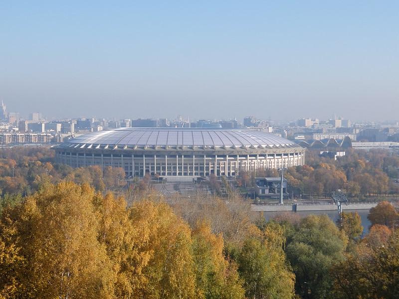 Москва - Воробьевы горы - Вид на Лужники