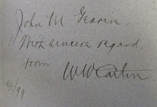 Penn Libraries 811W YD: Inscription