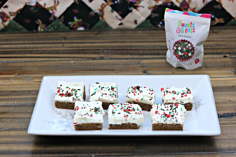 Gingerbread Bars with Maple Cream Cheese Frosting