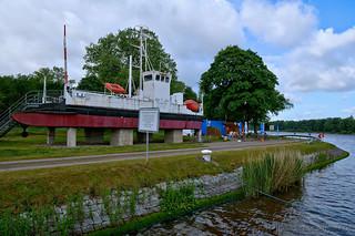 Alte Kettenfähre am Nord-Ostsee-Kanal