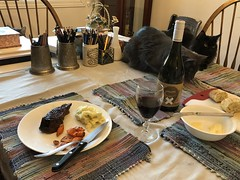 Caturday Dinner and A Movie.....Table for Two?
