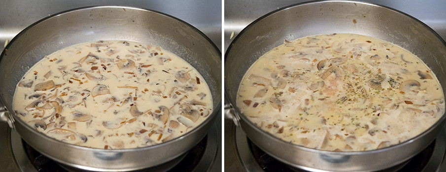 Creamy Mushroom Soup cooking steps by GoSpicy.net